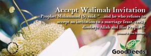Accept Walimah Invitation